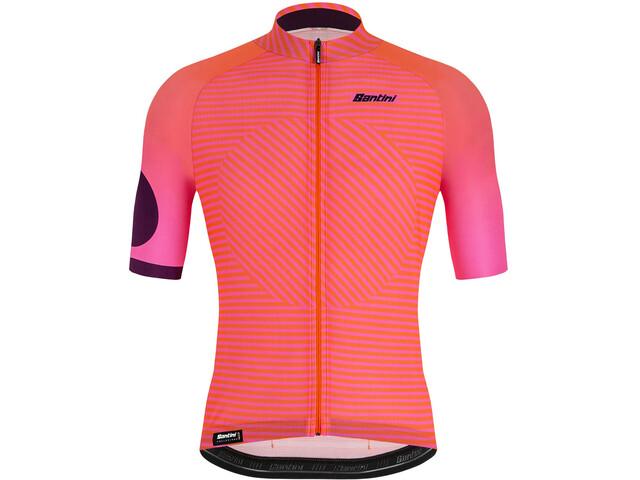 Santini Karma Mille Jersey Pyöräilypaita Miehet, atomic orange